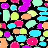 Bubble Seamless Pattern-06. Set of speech bubbles, vector hand drawn seamless pattern. endless color abstract background, EPS 8 Royalty Free Stock Photography
