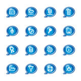 Bubble server icons Stock Photos