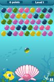 Bubble Shooter Under the Sea Game royalty free illustration