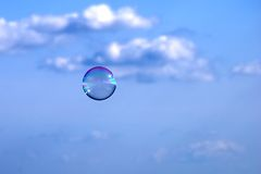 Bubble in the sky Royalty Free Stock Image