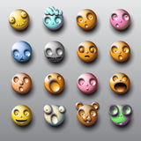 Bubble smileys Royalty Free Stock Images