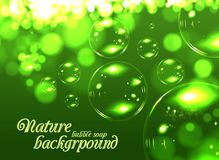 Bubble soap background Stock Images