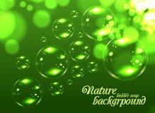 Bubble soap background vector illustration