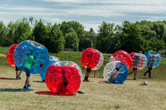 Bubble Soccer Football‎ Stock Images