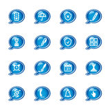 Bubble software icons. Vector icons, speech bubble series