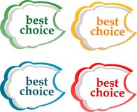 Bubble speech with Best Choice motive Royalty Free Stock Photo