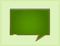 Bubble Speech in Blackboard Form Royalty Free Stock Photography