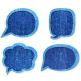 Bubble speech blue jean Royalty Free Stock Photography