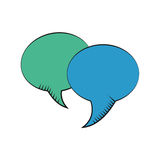 Bubble speech dialog communication Royalty Free Stock Image
