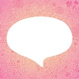 Bubble speech on doodle hipster seamless pattern Stock Images