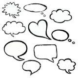 Bubble speech doodle vector set Royalty Free Stock Photos