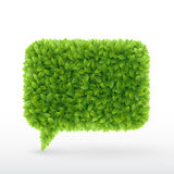 Bubble for speech Green leaves. Royalty Free Stock Photos