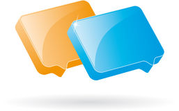 Bubble speech icon Stock Image