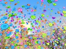 Bubble speech icon Stock Images