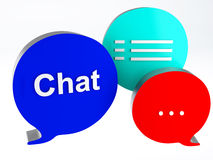 Bubble speech icon chat Stock Image