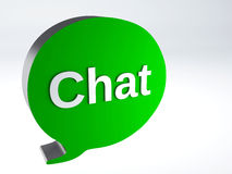 Bubble speech icon chat Royalty Free Stock Images
