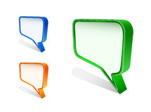Bubble speech icon set Stock Image