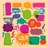 Bubble speech icons set Stock Image