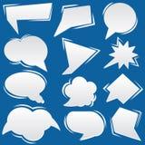 Bubble speech icons set Stock Images