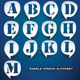 Bubble speech letters Royalty Free Stock Photography