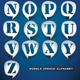Bubble speech letters Royalty Free Stock Images