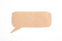 Bubble speech made from paper. Bubble speech made from brown paper Stock Photography