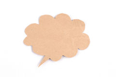 Bubble speech made from paper. Bubble speech made from brown paper Royalty Free Stock Photo