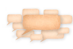 Bubble speech made from paper. Many bubble speech made from paper Stock Photography