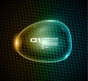 Bubble speech made of shiny glass to show a mesage or infographic. Stock Photography