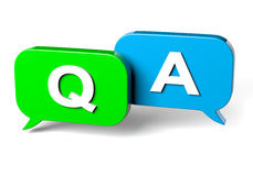 Bubble Speech Question and Answer Concept Stock Photography