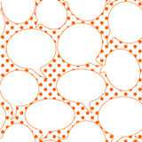 Bubble speech seamless pattern background Royalty Free Stock Images