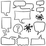 Bubble speech set of doodles Royalty Free Stock Photography