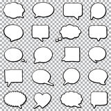 Bubble speech set. Hand drawn bubble speech set on a transparent background Royalty Free Stock Photo