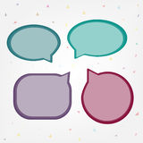 Bubble speech talk vector message illustration design background | blank sigh set communication Stock Photos
