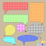 Bubble speech textile Stock Image