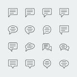 Bubble speech vector icons Royalty Free Stock Image