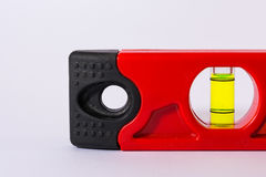 Bubble Spirit Level Construction Hand Tool Bright Red White Backgorund Stock Photo