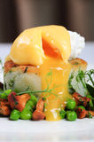 Bubble and squeak with poached egg Stock Images