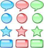 bubble symbol web icon Stock Photo