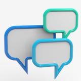 Bubble talk Stock Image
