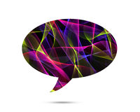 Bubble talk Colorful elegant on abstract background Royalty Free Stock Photography