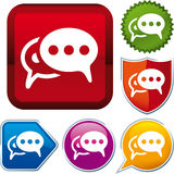 Bubble talk icon. Vector bubble talk icon on different buttons Royalty Free Stock Images