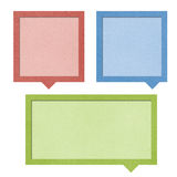 Bubble talk origami recycled paper . Royalty Free Stock Photos