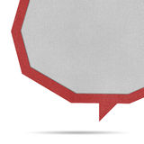 Bubble talk origami recycled paper. Stock Photography