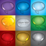 Bubble talk set Royalty Free Stock Photos