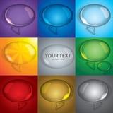 Bubble talk set Royalty Free Stock Photos