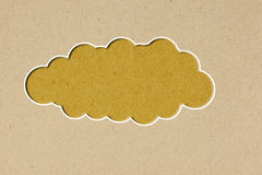 Bubble talk  tag on brown  paper. Background Stock Photography