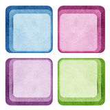 Bubble talk tag recycled paper craft Royalty Free Stock Image