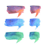 Bubble talk watercolor abstract background. Royalty Free Stock Photo