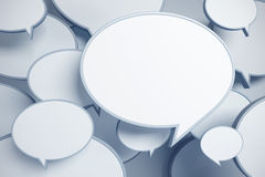 Bubble talks 3d render Royalty Free Stock Images